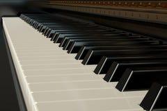 svart elfenben keys pianowhite Stock Illustrationer