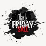 svart etikett för stil för fredag försäljningsgrunge Arkivbild