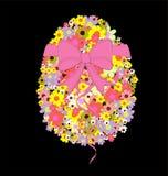 svart färgrik easter äggillustration Royaltyfria Bilder