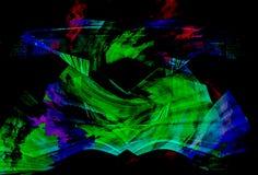 svart färgrik rök för bakgrund Arkivbilder