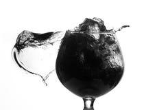 svart färgstänk Royaltyfri Fotografi