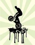 svart färgstänk för bmxgreenhopp Arkivbilder