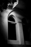 svart fönster royaltyfria foton