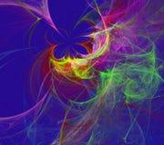 Svart för den Fraktal fractaltapeten och färgrika geometriska former illustrerar galaxen för explosionen för frekvens för utrymme royaltyfri foto