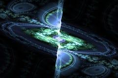 Svart för den Fraktal fractaltapeten och färgrika geometriska former illustrerar galaxen för explosionen för frekvens för utrymme royaltyfri fotografi