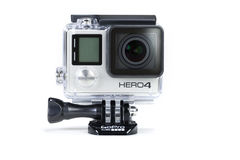 Svart för GoPro hjälte 4 Royaltyfri Bild