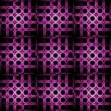 Svart för lilor för abstrakt vanlig cirkelmodell violett Royaltyfria Bilder