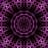 Svart för lilor för sömlös lutningcirkelprydnad violett Royaltyfri Bild