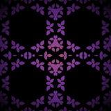 Svart för lilor för sömlös sexhörningsprydnad violett Fotografering för Bildbyråer