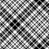 Svart för textur för tyg för celtic modell för fc för tartan sömlös diagonal Arkivfoto