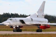 Svart för Tupolev Tu-22M3 9804 av ryskt flygvapen på Zhukovsky Royaltyfri Fotografi