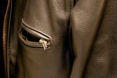 Svart fack för läderomslag Royaltyfri Fotografi