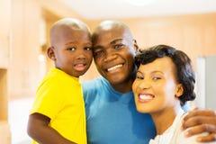 svart familjbarn Royaltyfria Bilder