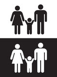 svart familjwhite vektor illustrationer