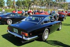 Svart ferrari för klassiker sportbil Arkivfoto