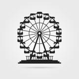 Svart ferrishjul med skugga stock illustrationer