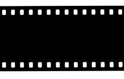 Svart filmremsa på vit bakgrund arkivfoton