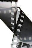 svart filmremsawhite Arkivfoto
