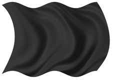 svart flagga Arkivbilder