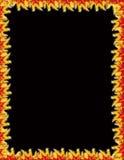 svart flamm för kant vektor illustrationer