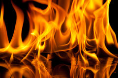 svart flammatextur för bakgrund Arkivfoto