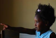 svart flicka Arkivbild