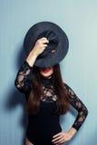 svart flicka Royaltyfria Foton