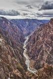 svart flod för park för kanjonco-gunnison royaltyfria foton