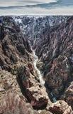 svart flod för park för kanjonco-gunnison royaltyfri bild