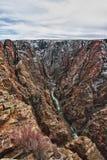 svart flod för park för kanjonco-gunnison arkivbilder