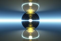 svart fokuslampamarmor vektor illustrationer