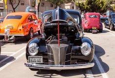 Svart Ford Deluxe Sedan 1940 Royaltyfri Foto