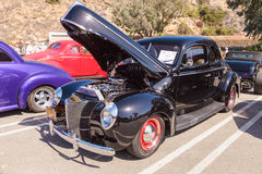 Svart Ford Deluxe Sedan 1940 Arkivfoto