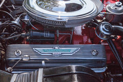 Svart Ford Thunderbird 1956 Arkivbild
