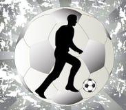 svart fotbollspelrumwhite Fotografering för Bildbyråer