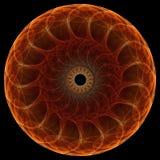 svart fractalmandala för bakgrund Arkivbild