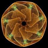 svart fractalmandala för bakgrund Arkivbilder