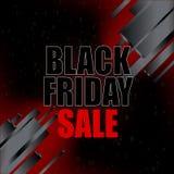 Svart fredag försäljning med abstrakta beståndsdelar på svart bakgrund också vektor för coreldrawillustration Arkivfoto