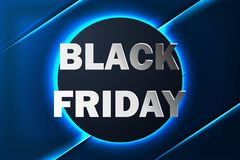 Svart fredag försäljningsbaner med neonbakgrund Vektor Illustrationer