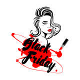 Svart fredag försäljningsdesign Royaltyfri Bild