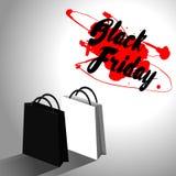 Svart fredag försäljningsdesign Arkivbilder