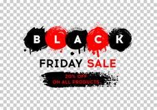 svart friday för baner försäljning Royaltyfria Bilder