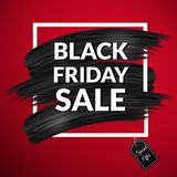 svart friday för baner försäljning Arkivbilder