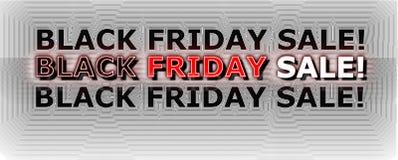 svart friday för baner försäljning Royaltyfri Fotografi