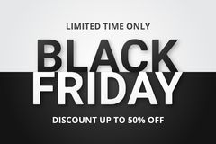 svart friday för baner försäljning vektor illustrationer
