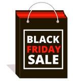 svart friday försäljning shopping Arkivbild