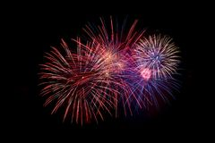 svart fyrverkerisky Fjärdedel av Juli, självständighetsdagen arkivfoton