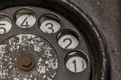 svart gammal telefon Royaltyfri Bild