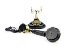 svart gammal telefontappning Royaltyfri Foto