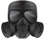 svart gasmask Arkivfoto